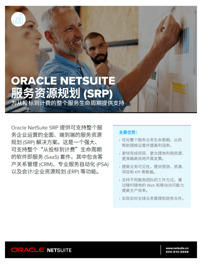 Oracle NetSuite 服务资源规划